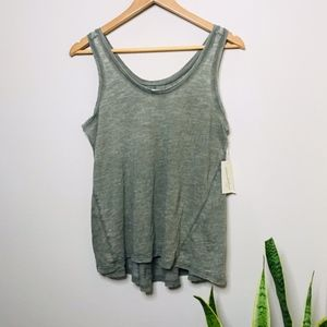Universal Thread Olive Green Basic Tank Small NWT